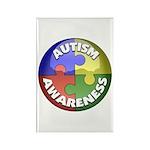 Autism Awareness Jewel Rectangle Magnet (100 pack)