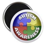 Autism Awareness Jewel Magnet