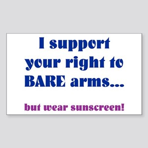 Right to Bare Arms Rectangle Sticker