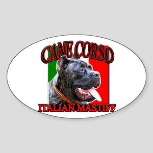 Cane Corso Italian Mastiff Oval Sticker