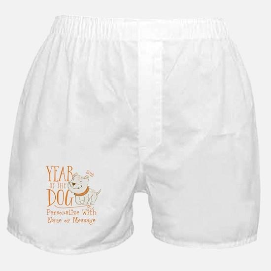 CUSTOM Cute Year Of The Dog Boxer Shorts
