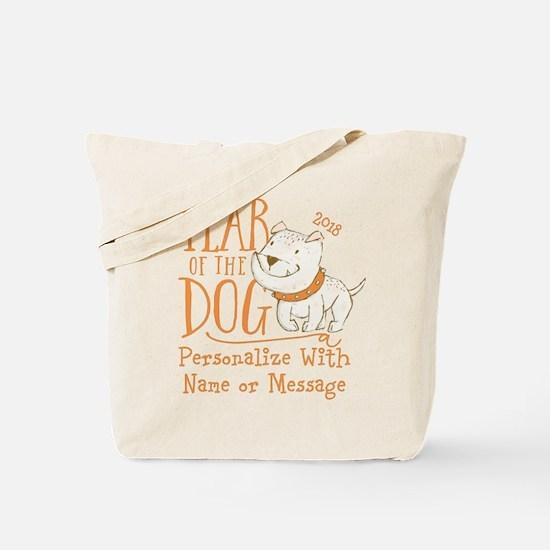 CUSTOM Cute Year Of The Dog Tote Bag