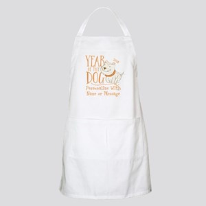 CUSTOM Cute Year Of The Dog Light Apron