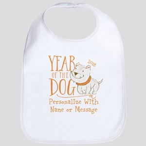 CUSTOM Cute Year Of The Dog Baby Bib