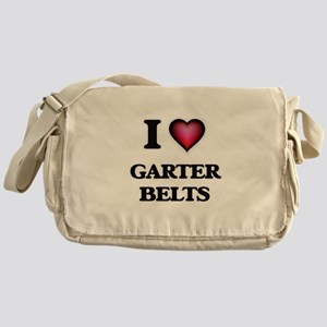 I love Garter Belts Messenger Bag