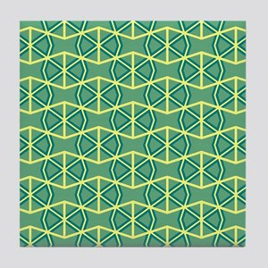 GREEN BOWTIES Tile Coaster