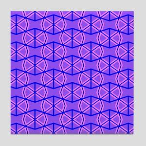 PURPLE BOWTIES Tile Coaster