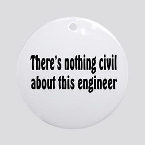 Civil Engineer Ornament (Round)