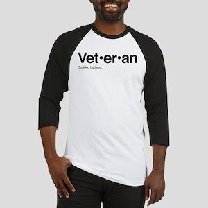 Veteran Bad Ass Definition Baseball Tee