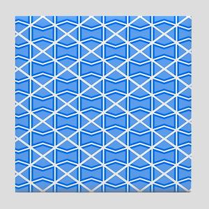 BLUE DIAMONDS Tile Coaster