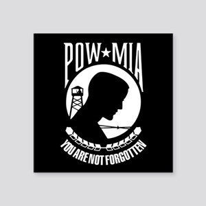 "POW You Are Not Forgotten Square Sticker 3"" x 3"""