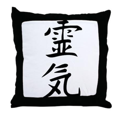 Reiki Kanji Throw Pillow