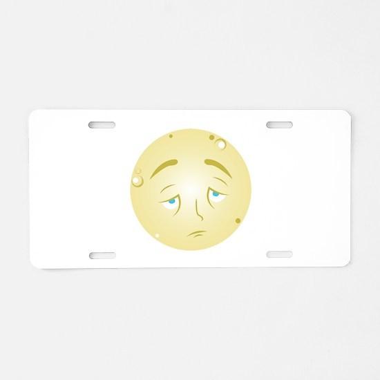 Full Moon Aluminum License Plate