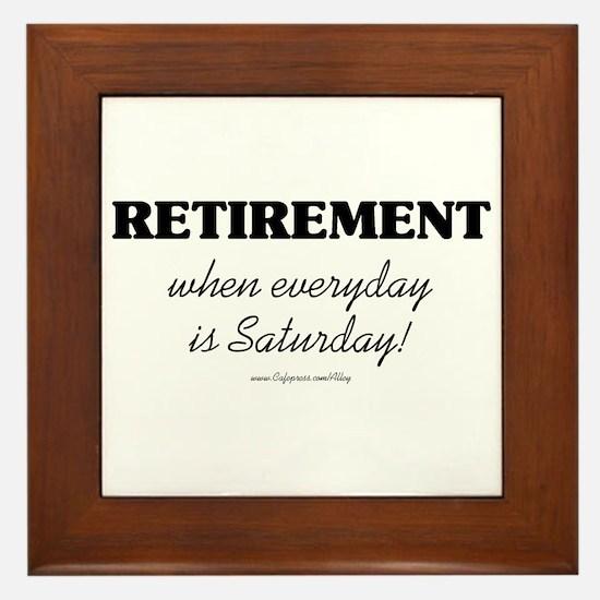 Retirement Weekend Framed Tile