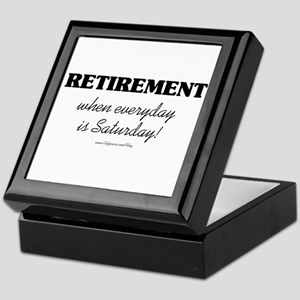 Retirement Weekend Keepsake Box