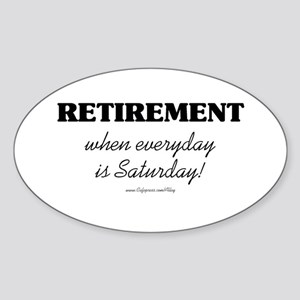 Retirement Weekend Oval Sticker