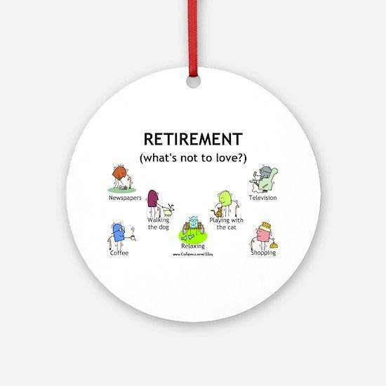 Retirement Love Ornament (Round)