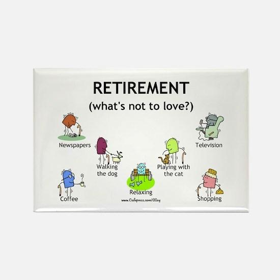 Retirement Love Rectangle Magnet