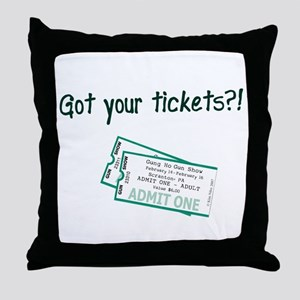 Gun Show Tickets Throw Pillow