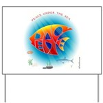 Peace Under the Sea Yard Sign