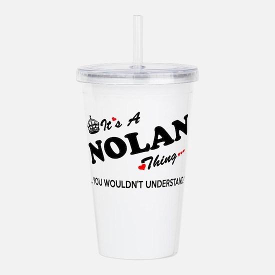 NOLAN thing, you would Acrylic Double-wall Tumbler
