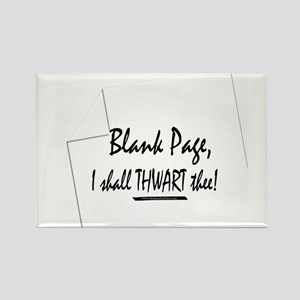 Blank Page Rectangle Magnet