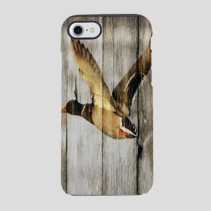 rustic western wood duck iPhone 8/7 Tough Case
