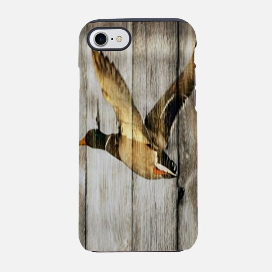 rustic western wood duck iPhone 8/7 Tough Case