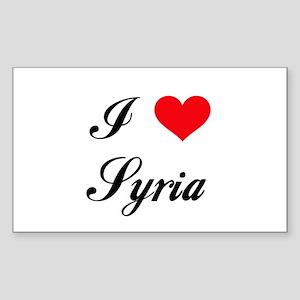 I Love Syria Rectangle Sticker