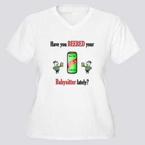 Babysitter Women's Plus Size V-Neck T-Shirt