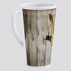 rustic western wood duck 17 oz Latte Mug