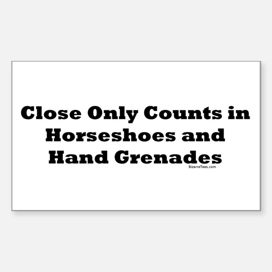 Horseshoes and Hand Grenades Rectangle Decal