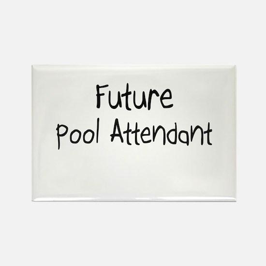 Future Pool Attendant Rectangle Magnet