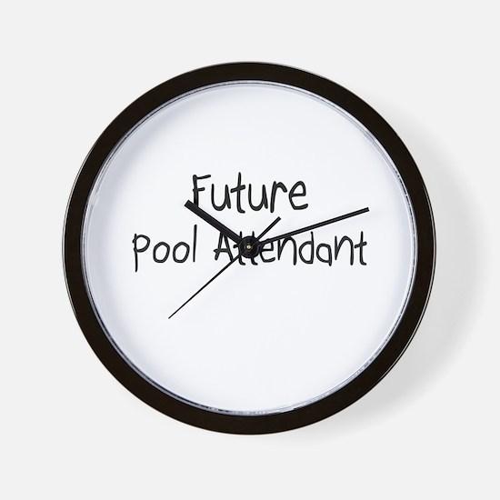Future Pool Attendant Wall Clock