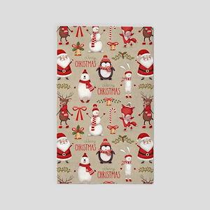 Merry Christmas Santa And Friends Area Rug