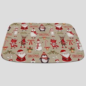Merry Christmas Santa And Friends Bathmat