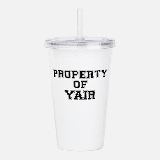 Property of YAIR Acrylic Double-wall Tumbler
