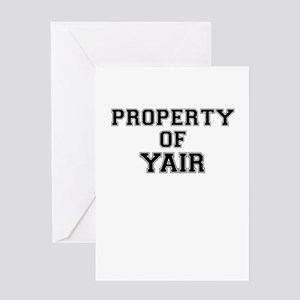 Property of YAIR Greeting Cards