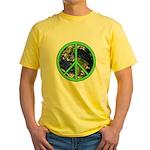 Earth Peace Symbol Yellow T-Shirt