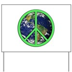 Earth Peace Symbol Yard Sign