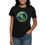 Earth Peace Symbol Women's Dark T-Shirt