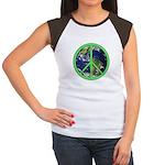 Earth Peace Symbol Women's Cap Sleeve T-Shirt