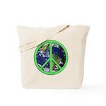 Earth Peace Symbol Tote Bag