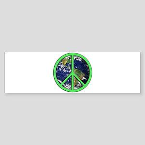 Earth Peace Symbol Sticker (Bumper)
