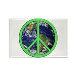 Earth Peace Symbol Rectangle Magnet
