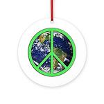 Earth Peace Symbol Ornament (Round)