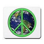 Earth Peace Symbol Mousepad