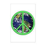 Earth Peace Symbol Mini Poster Print
