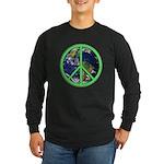 Earth Peace Symbol Long Sleeve Dark T-Shirt