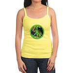 Earth Peace Symbol Jr. Spaghetti Tank